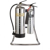 Chrome Extinguisher Stands
