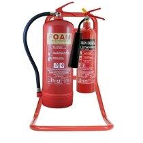 Red Metal Extinguisher Stands