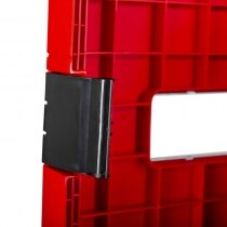 Clasps hold the door closed securely while being easy to open in an emergency