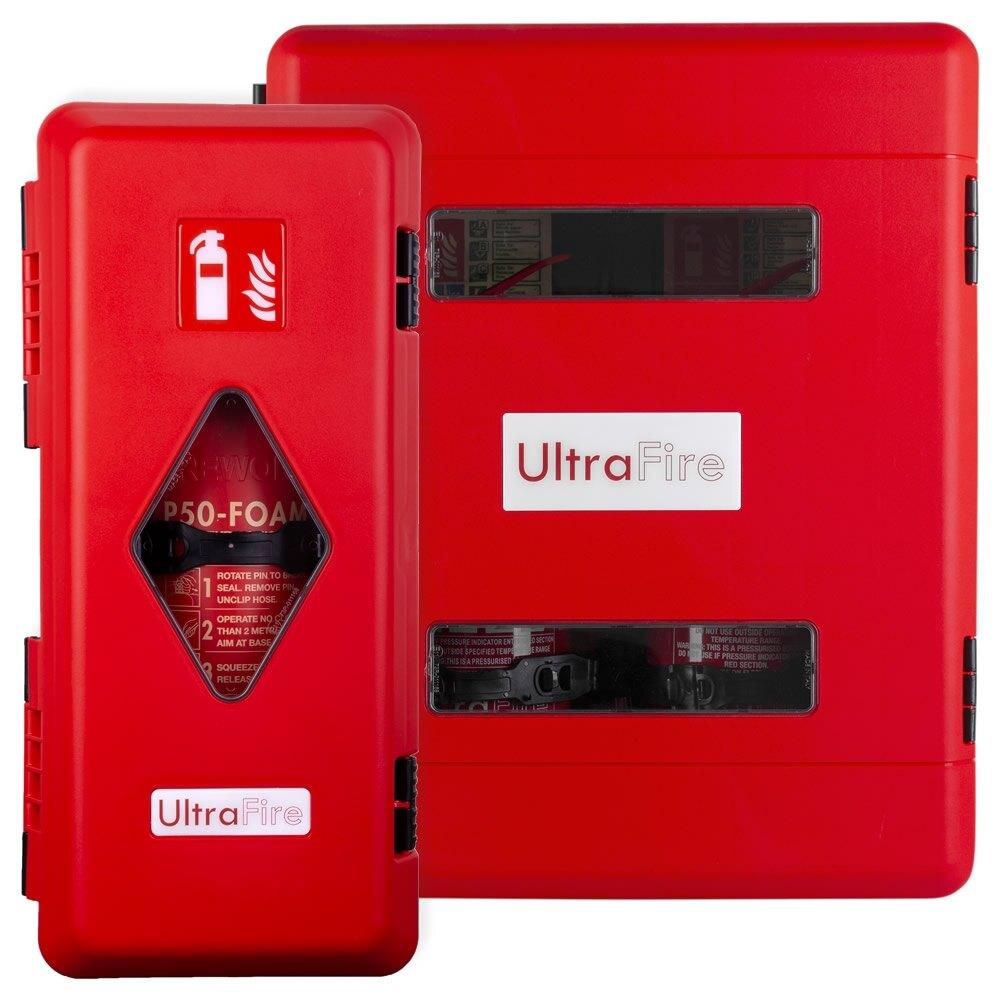 UltraFire Single & Double Weatherproof Fire Extinguisher Cabinets